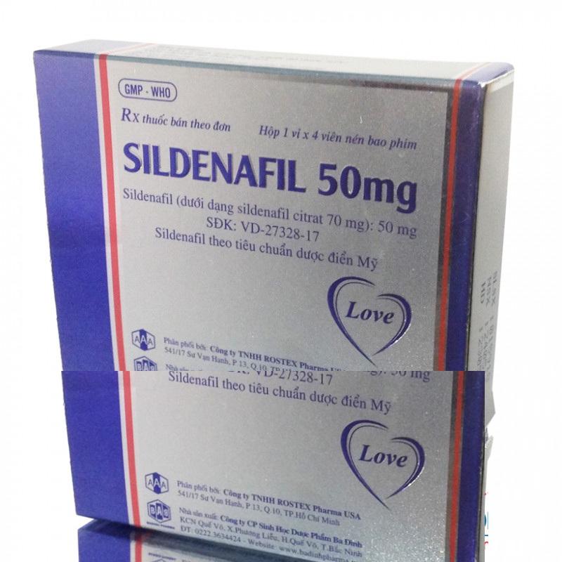 Thuốc Cho Nam Giới: Sildenafil 50mg tăng sinh lý nam