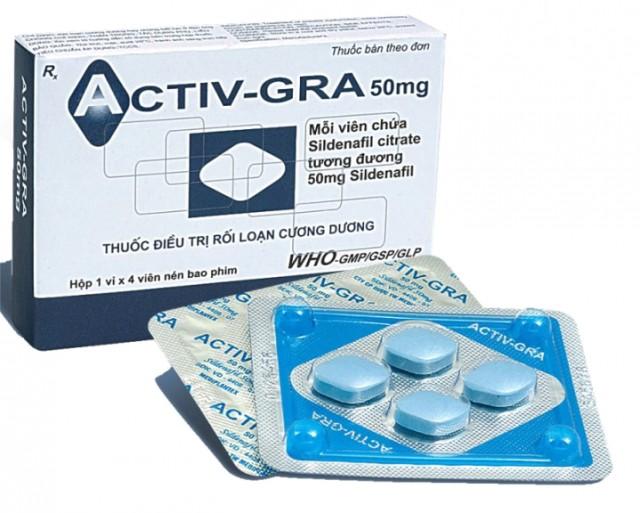Thuốc Rối Loạn Cương Dương: Thuốc điều trị rối loạn cương dương Activ gra