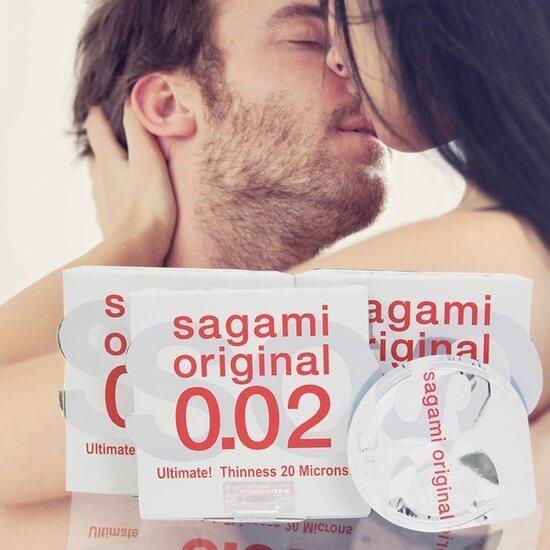 Bao cao su Sagami Original 0.02 mỏng nhất trái đất (6 cái)