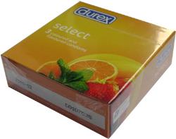 bao cao su, Bao cao su Durex Select - mùi cam dâu chuối