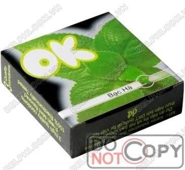 Bao Cao Su OK: Bao cao su ok mùi bạc hà hộp bé
