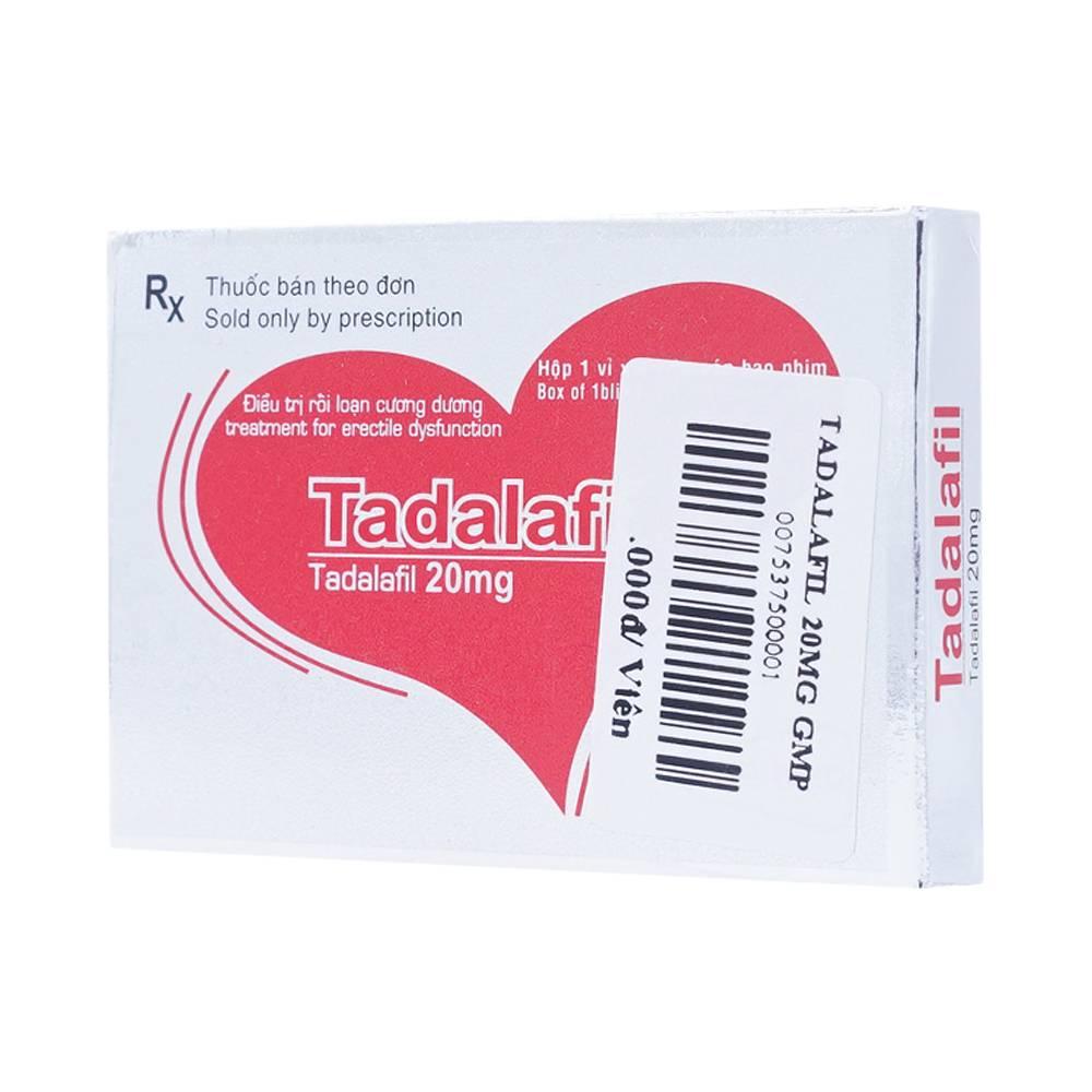 Thuốc Cho Nam Giới: Tadalafil 20mg tăng sinh lý nam