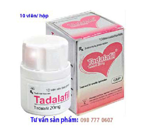 Thuốc Cho Nam Giới: Tadalafil 20mg điều trị rối loạn cương dương